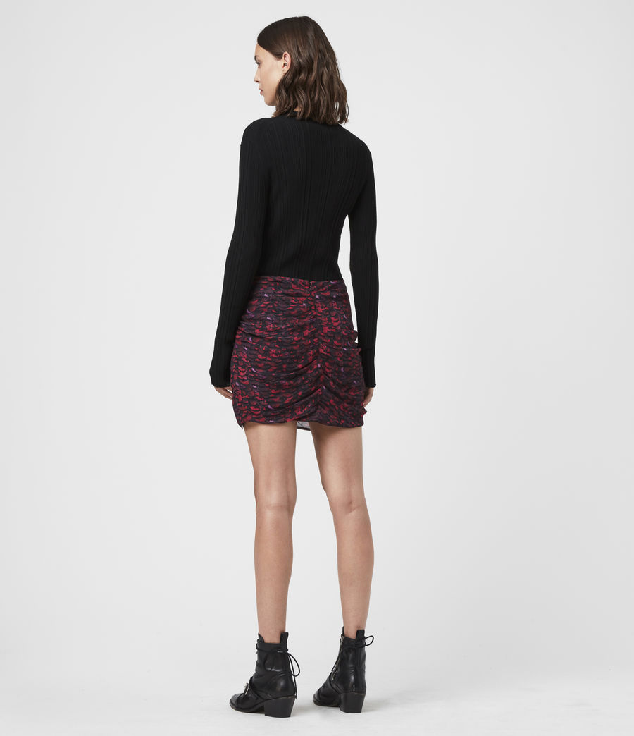 Womens Rylie Plume Skirt (pink) - Image 5