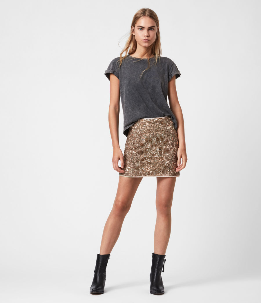 Womens Brellie Embellished Skirt (gold) - Image 1