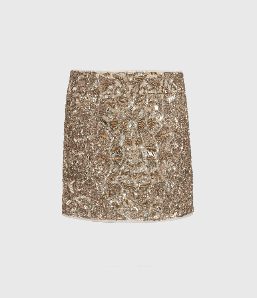 Womens Brellie Embellished Skirt (gold) - Image 2