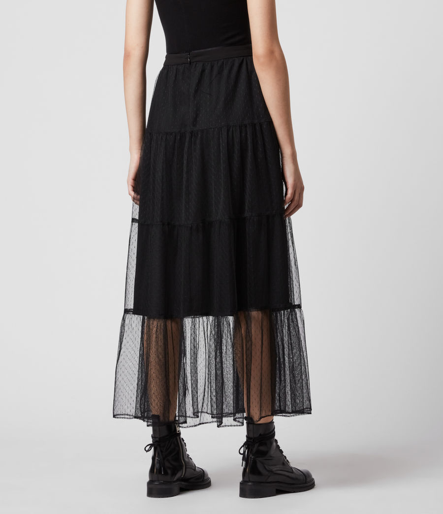 Womens Lali Maxi Skirt (black) - Image 6