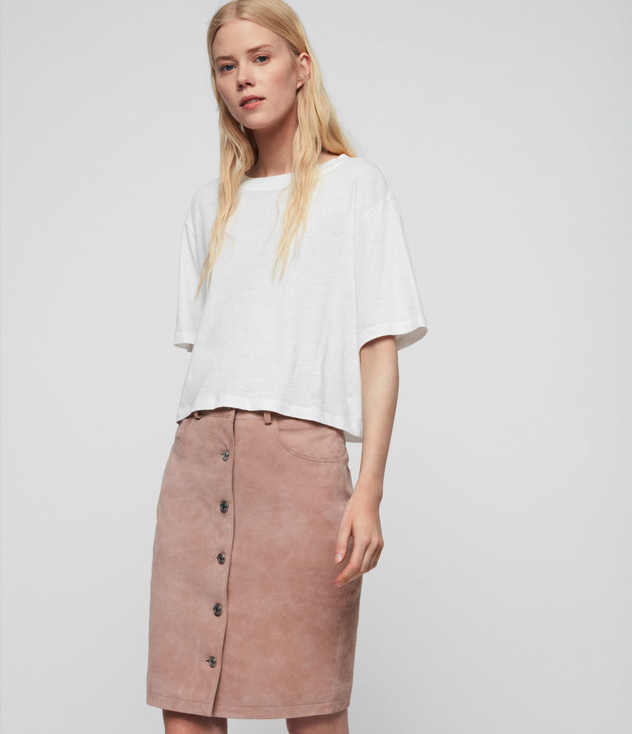 Womens Jiro Suede Skirt (putty_pink) - Image 1