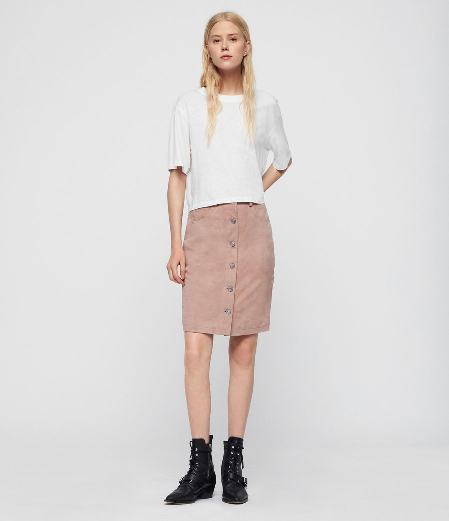 Women's Jiro Suede Skirt (putty_pink) - Image 3