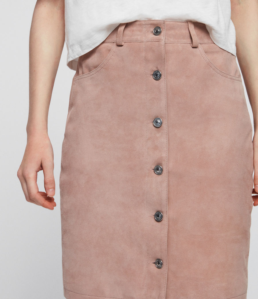 Womens Jiro Suede Skirt (putty_pink) - Image 4
