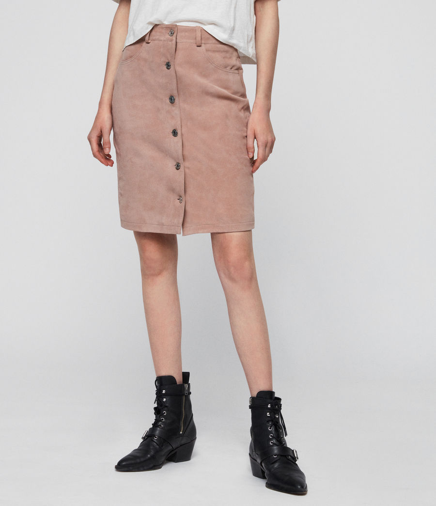 Womens Jiro Suede Skirt (putty_pink) - Image 5