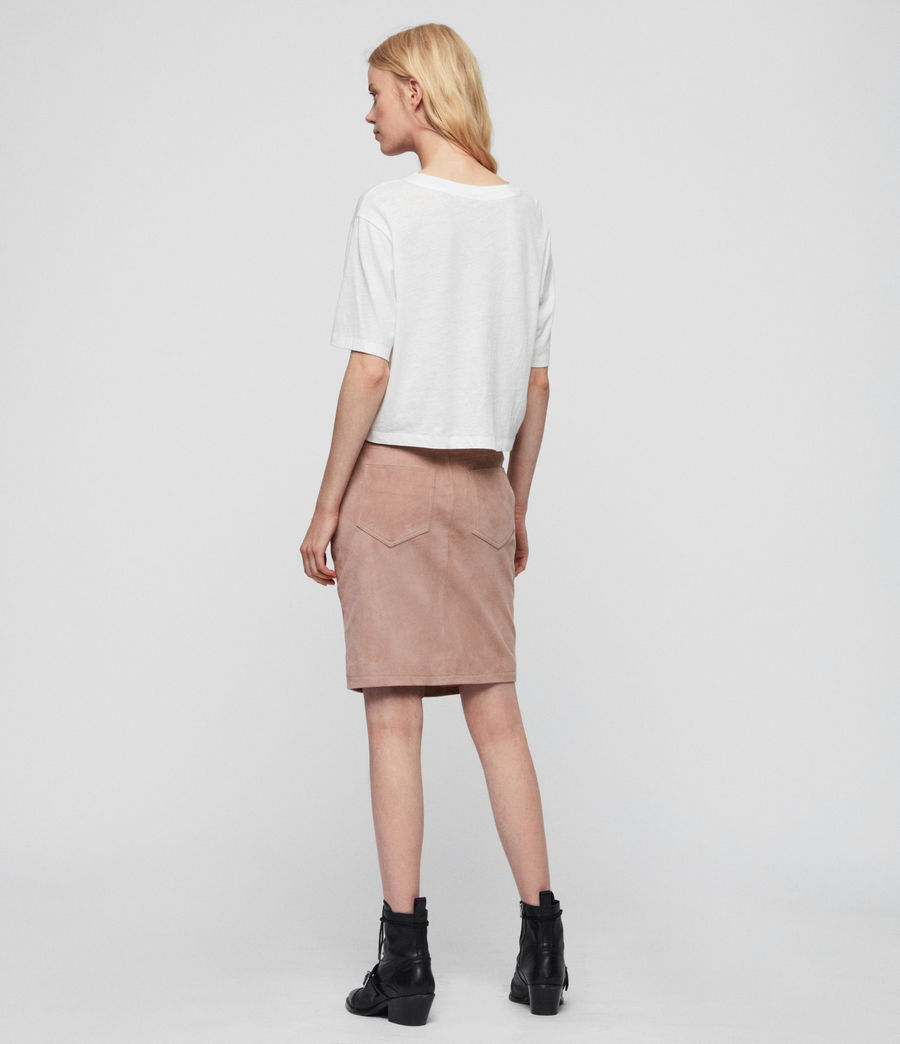 Womens Jiro Suede Skirt (putty_pink) - Image 6