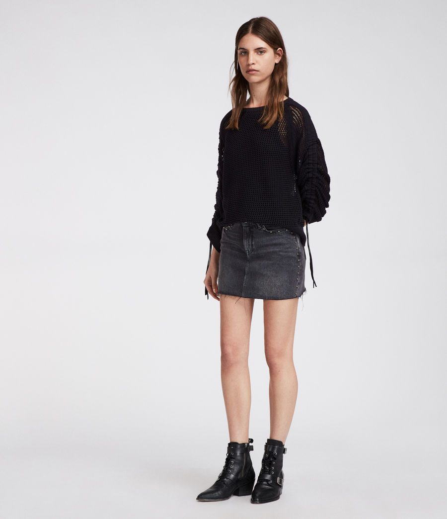 Women's Studded Skirt (washed_black) - Image 2
