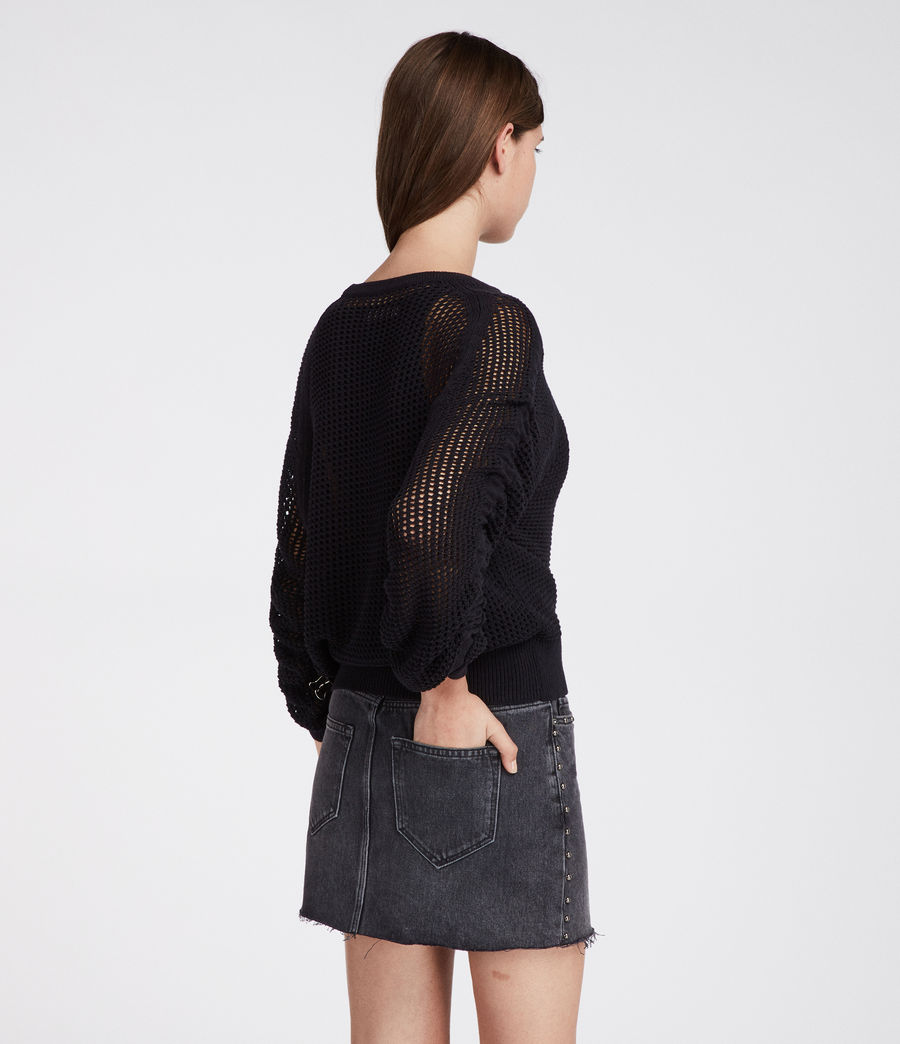 Women's Studded Skirt (washed_black) - Image 4
