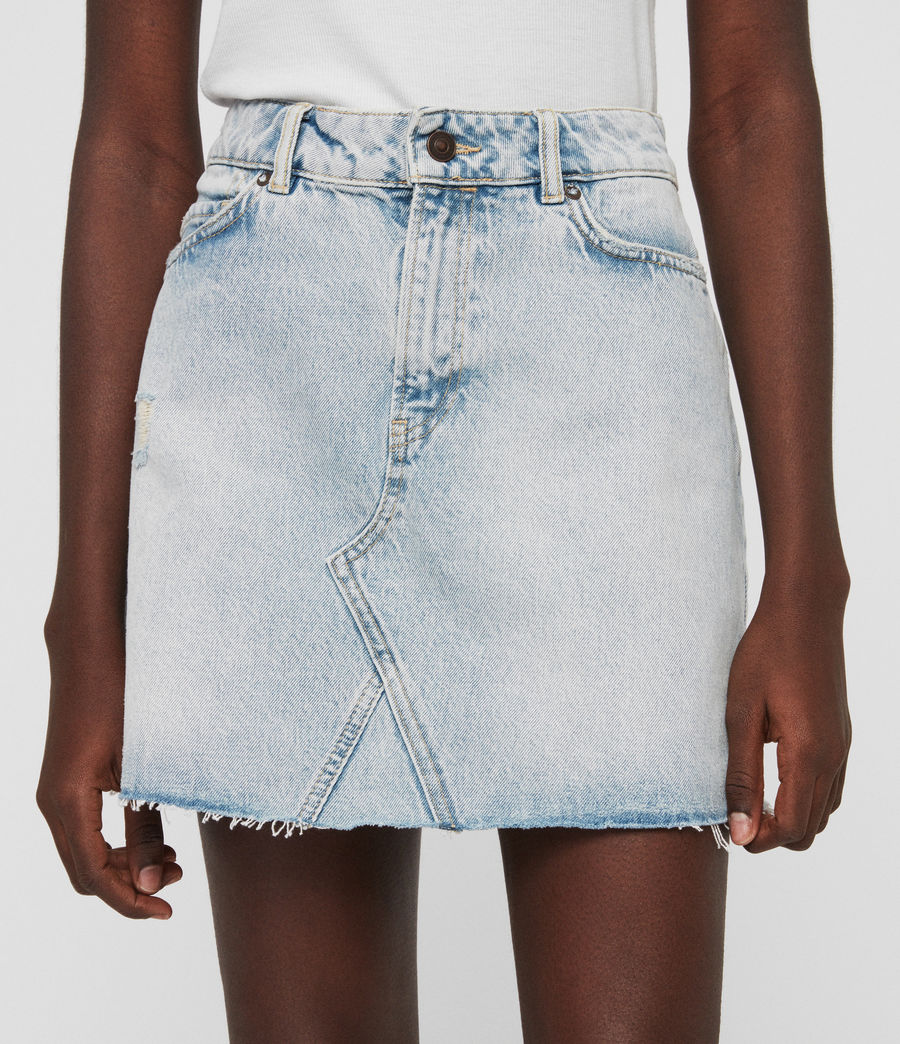 Womens Mae Denim Skirt (ice_blue) - Image 2