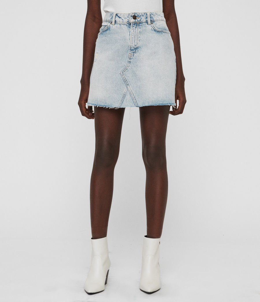 Women's Mae Denim Skirt (ice_blue) - Image 3