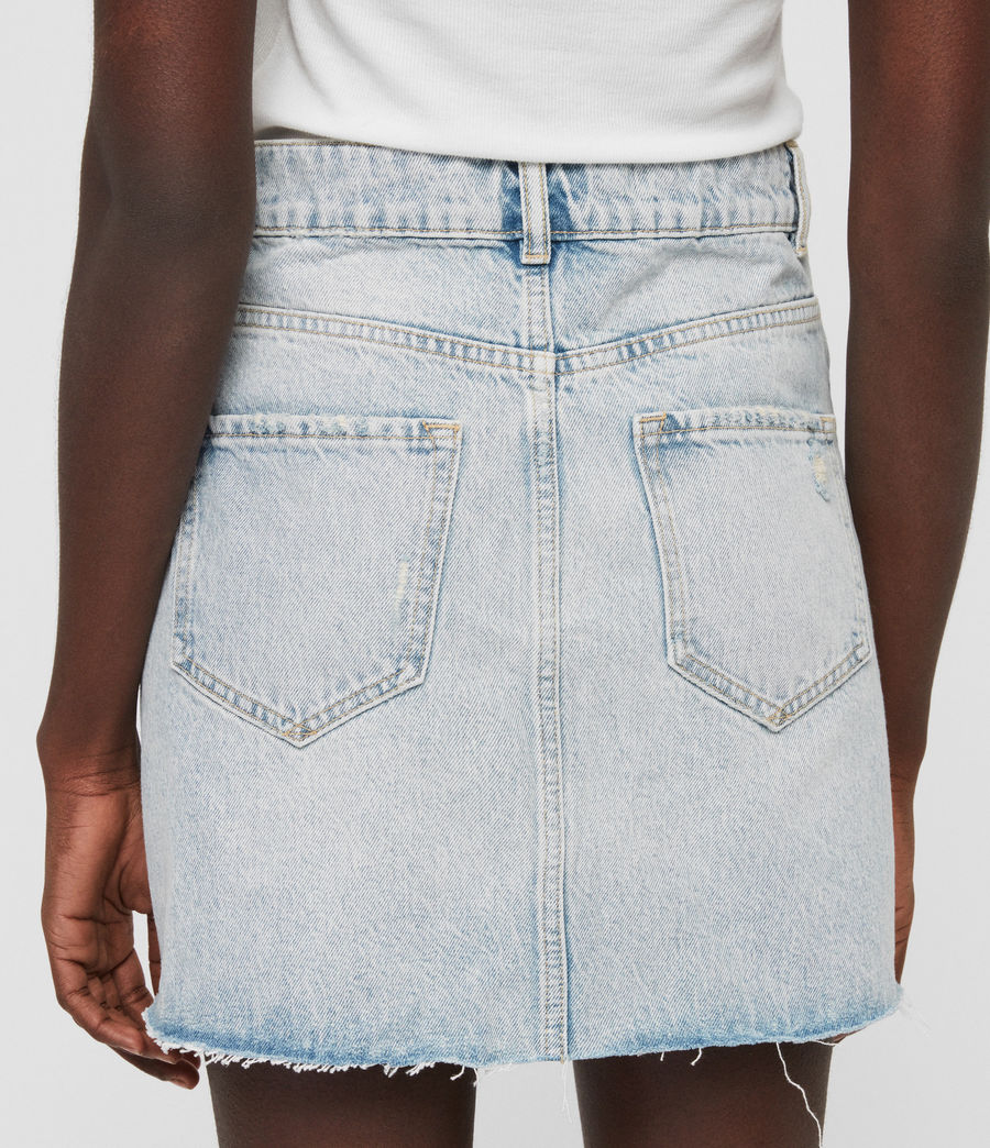 Womens Mae Denim Skirt (ice_blue) - Image 5