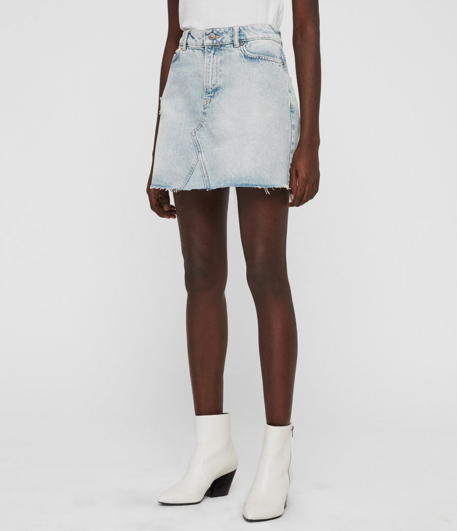 Women's Mae Denim Skirt (ice_blue) - Image 6