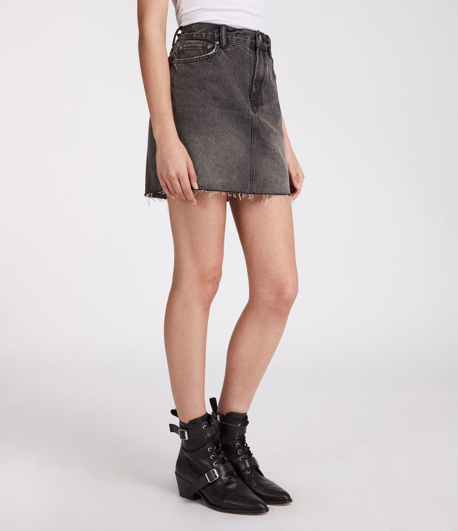 Womens Betty Skirt (washed_black) - Image 1