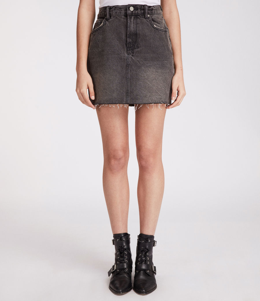 Womens Betty Skirt (washed_black) - Image 3
