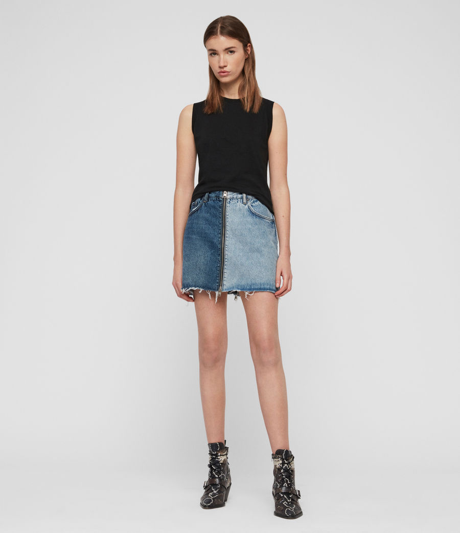 Womens Lomo Denim Skirt (indigo_blue) - Image 1