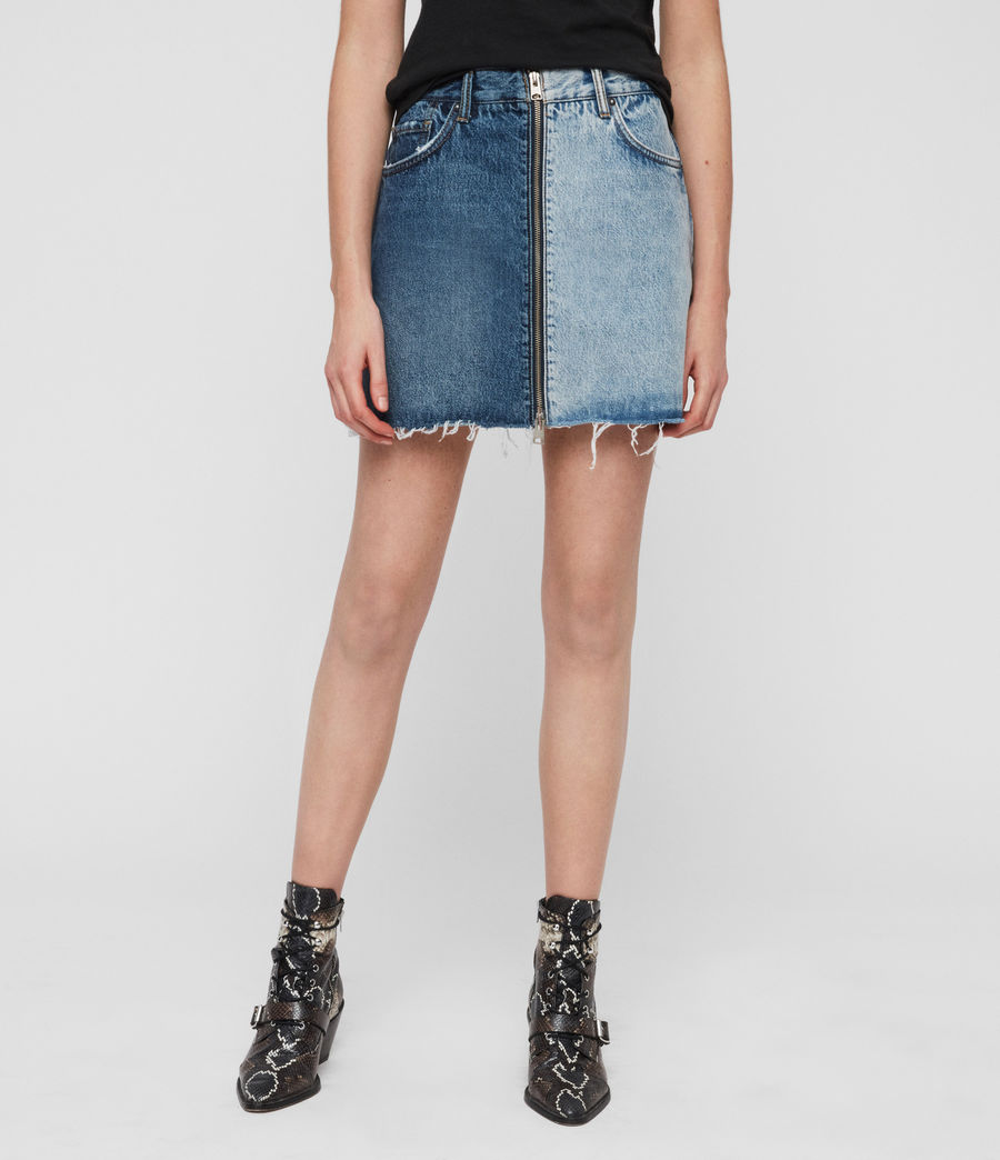 Womens Lomo Denim Skirt (indigo_blue) - Image 3