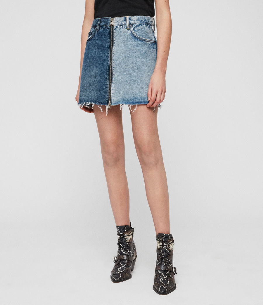 Womens Lomo Denim Skirt (indigo_blue) - Image 5