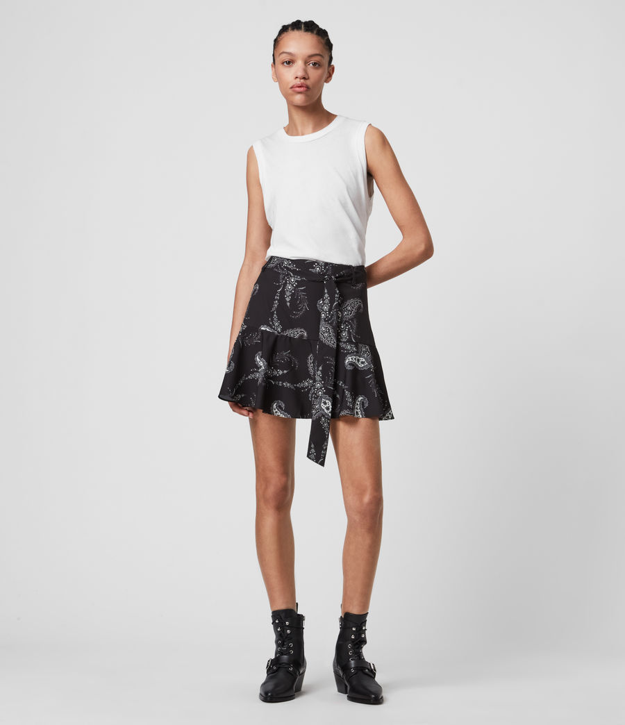 Women's Frida Kashmir Skirt (black) - Image 1