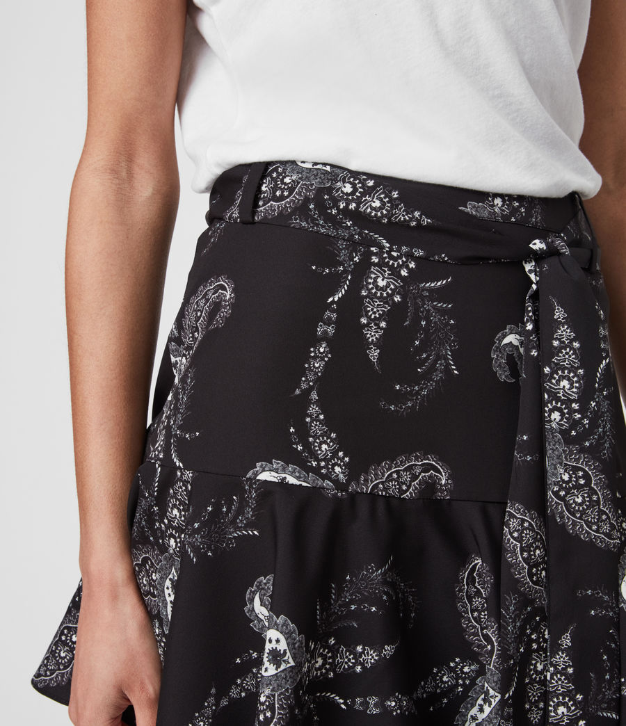 Women's Frida Kashmir Skirt (black) - Image 2