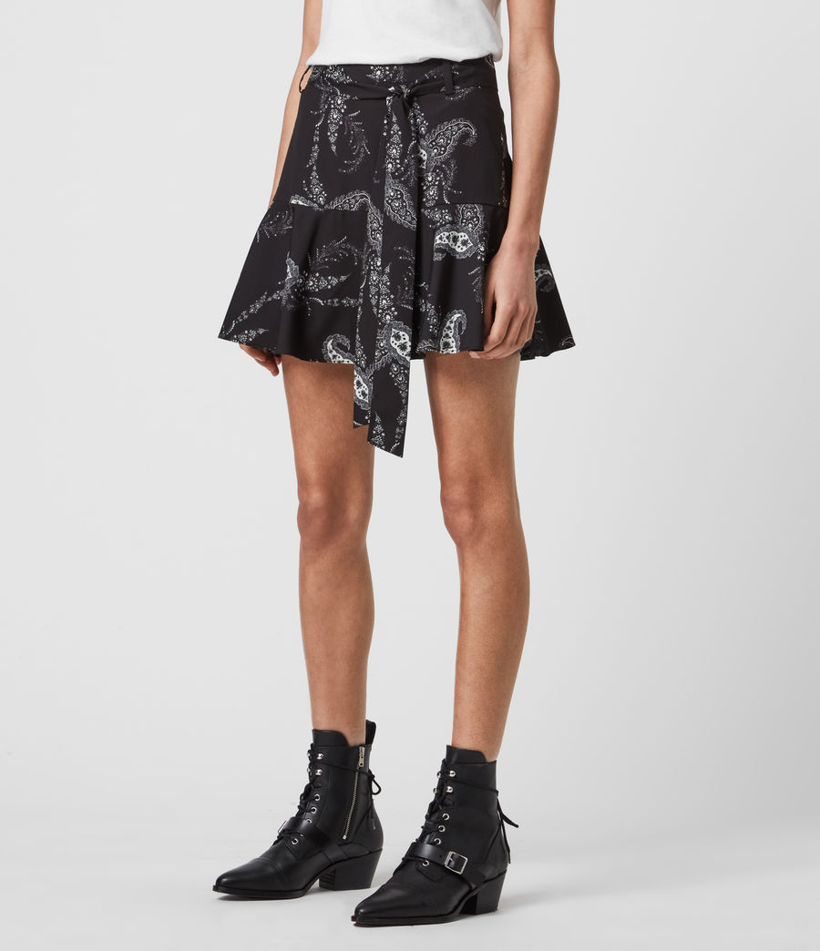 Women's Frida Kashmir Skirt (black) - Image 4