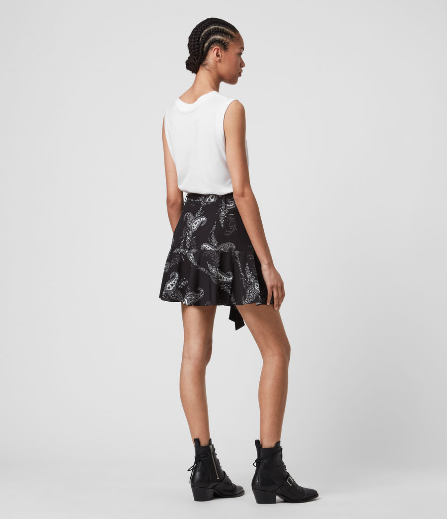Women's Frida Kashmir Skirt (black) - Image 5