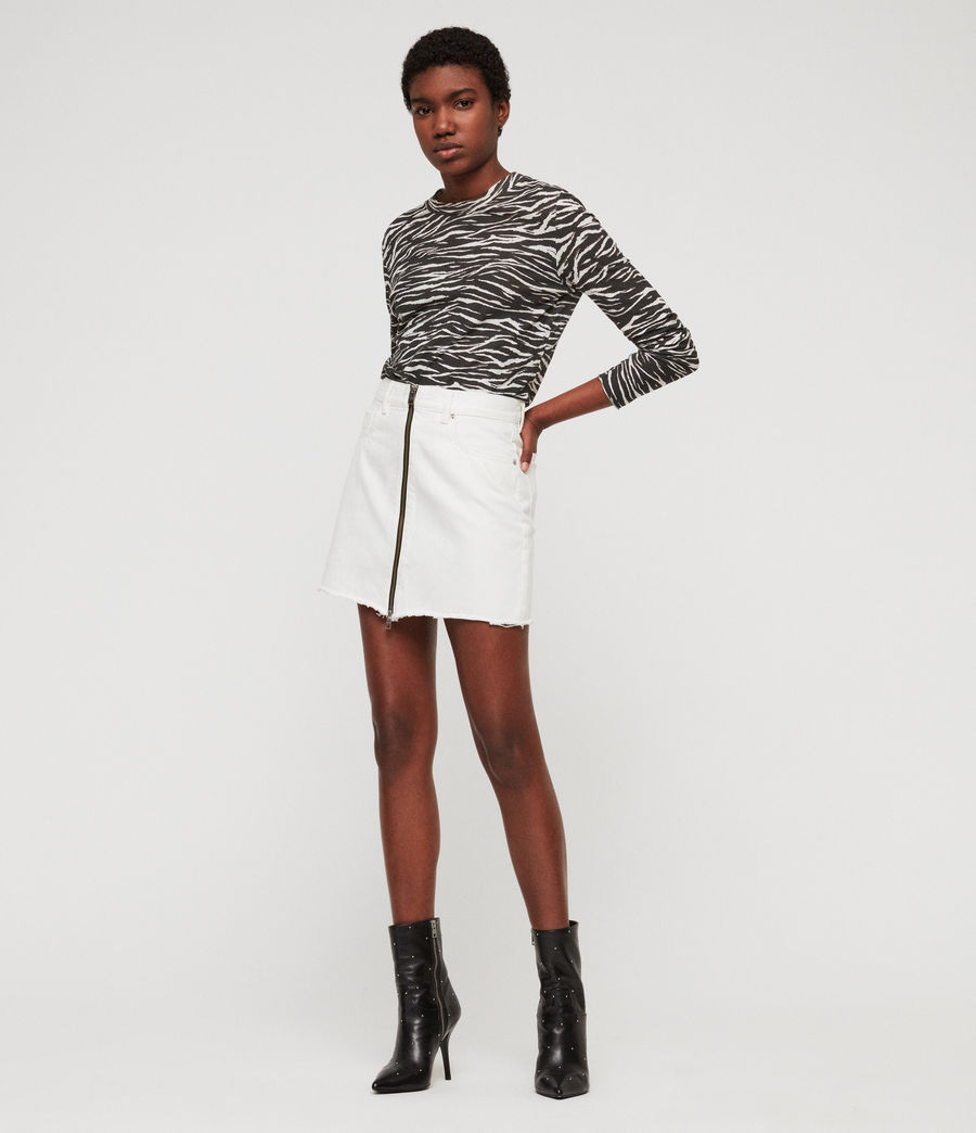 Womens Lomo Denim Skirt (white) - Image 3