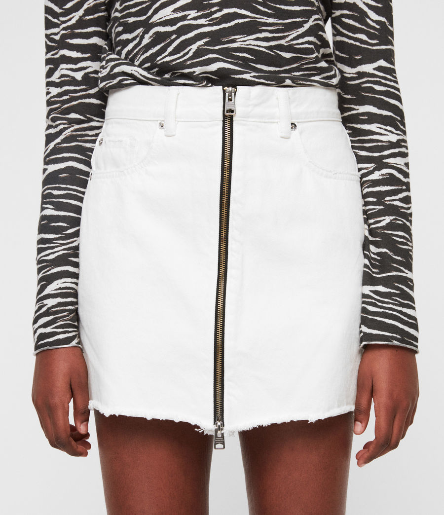 Women's Lomo Denim Skirt (white) - Image 4