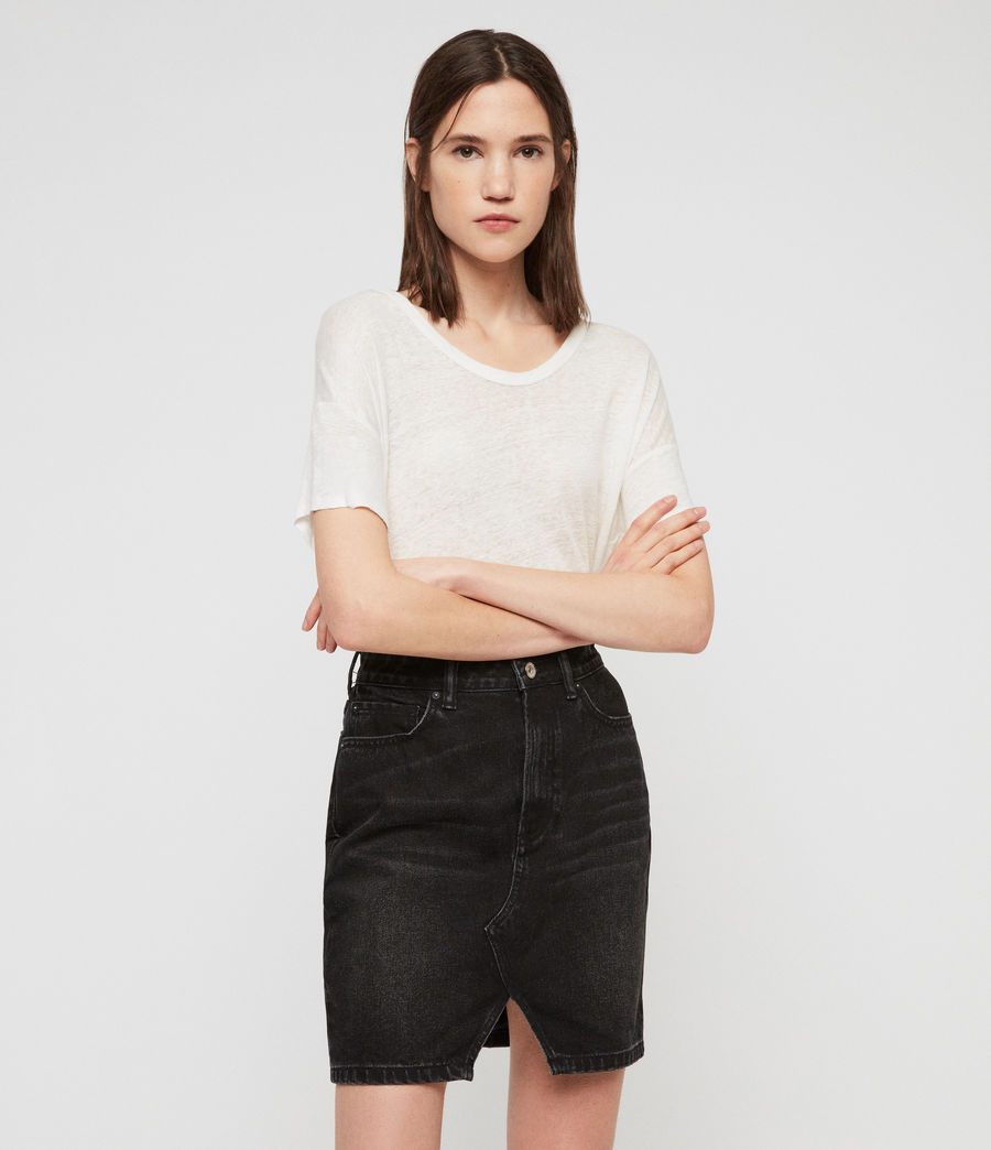 Womens Trudy Denim Skirt (black) - Image 1