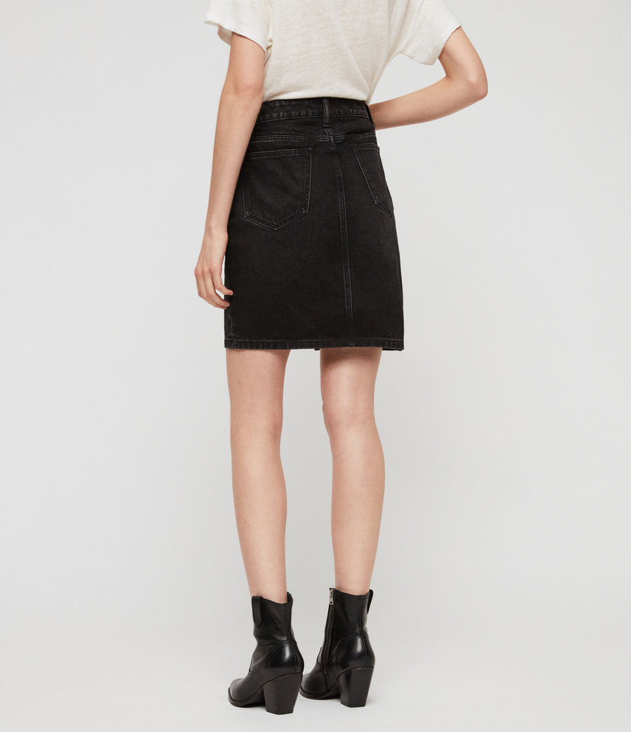 Womens Trudy Denim Skirt (black) - Image 6