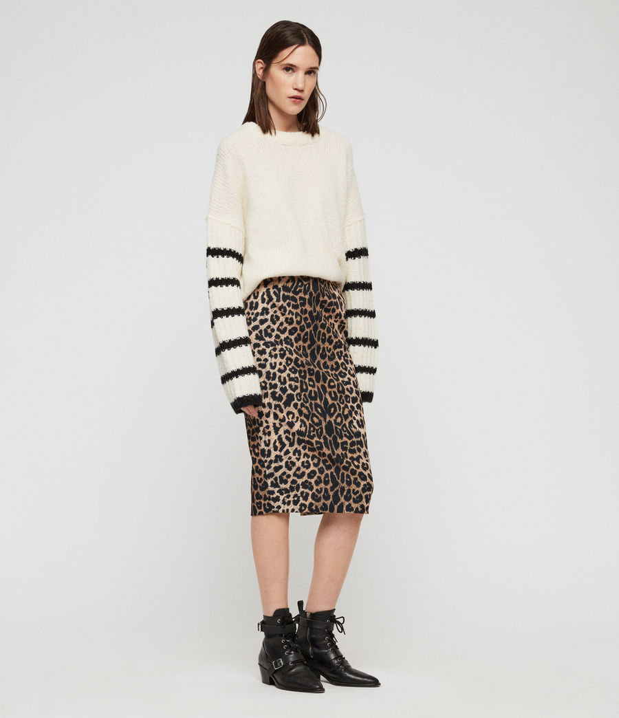 Women's Alie Leppo Skirt (leopard_yellow) - Image 1