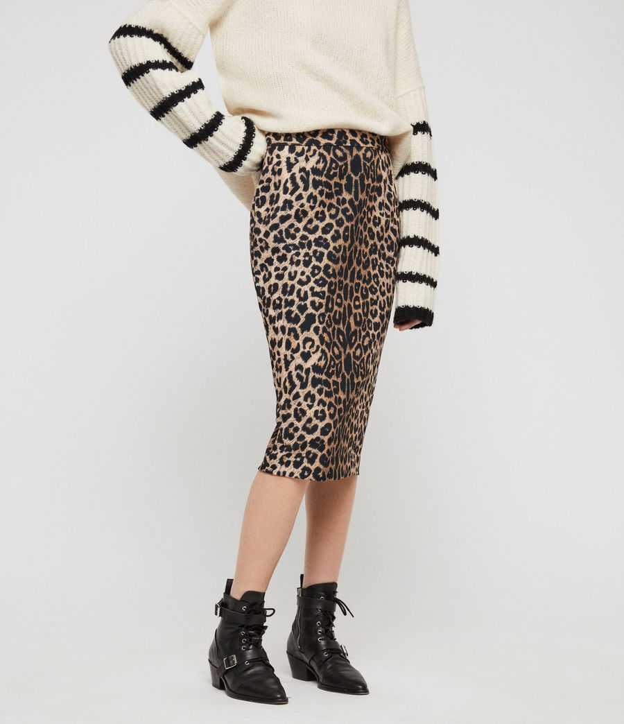 Women's Alie Leppo Skirt (leopard_yellow) - Image 3