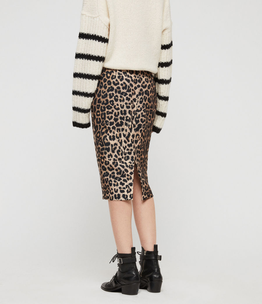 Women's Alie Leppo Skirt (leopard_yellow) - Image 4