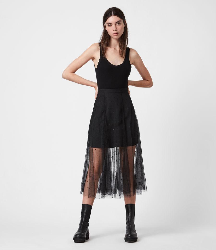 Women's Elvie Tulle Skirt (black) - Image 1