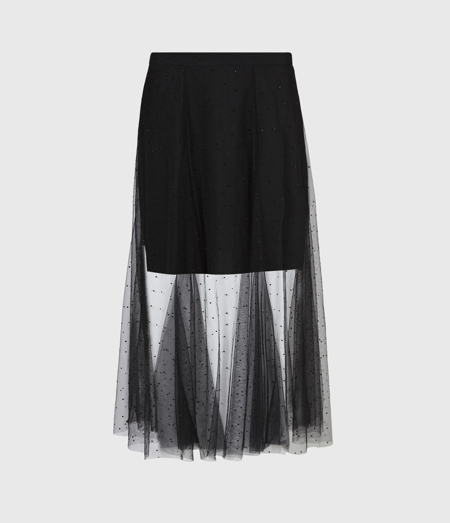 Women's Elvie Tulle Skirt (black) - Image 2