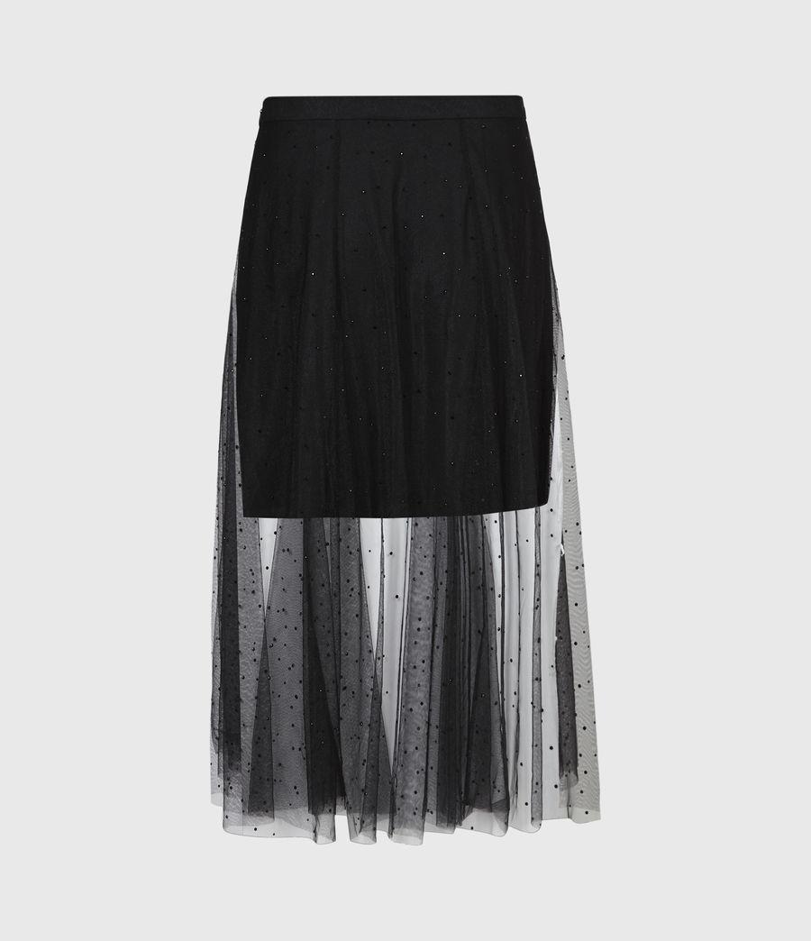 Women's Elvie Tulle Skirt (black) - Image 3