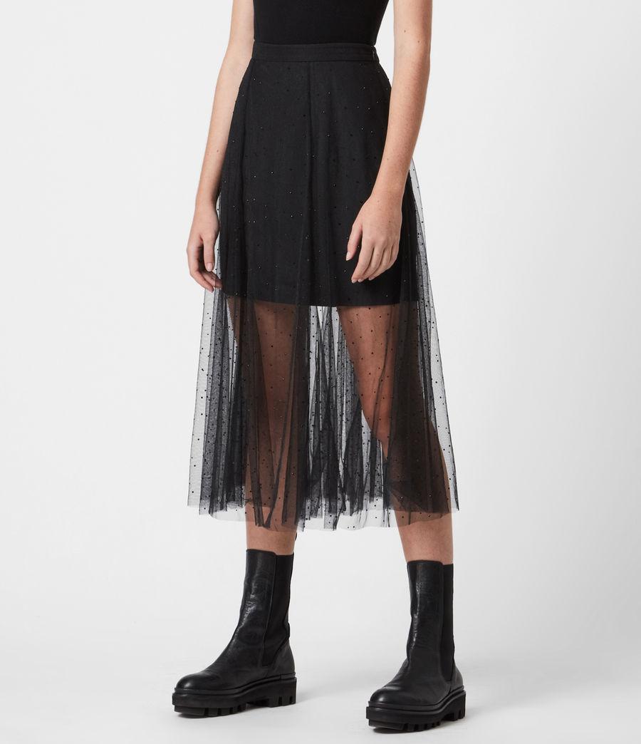 Women's Elvie Tulle Skirt (black) - Image 4