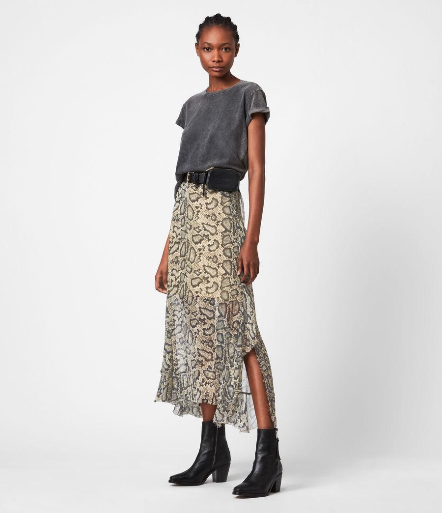 Womens Mena Stanza Skirt (pale_yellow) - Image 1