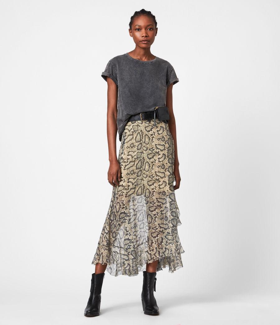 Womens Mena Stanza Skirt (pale_yellow) - Image 4