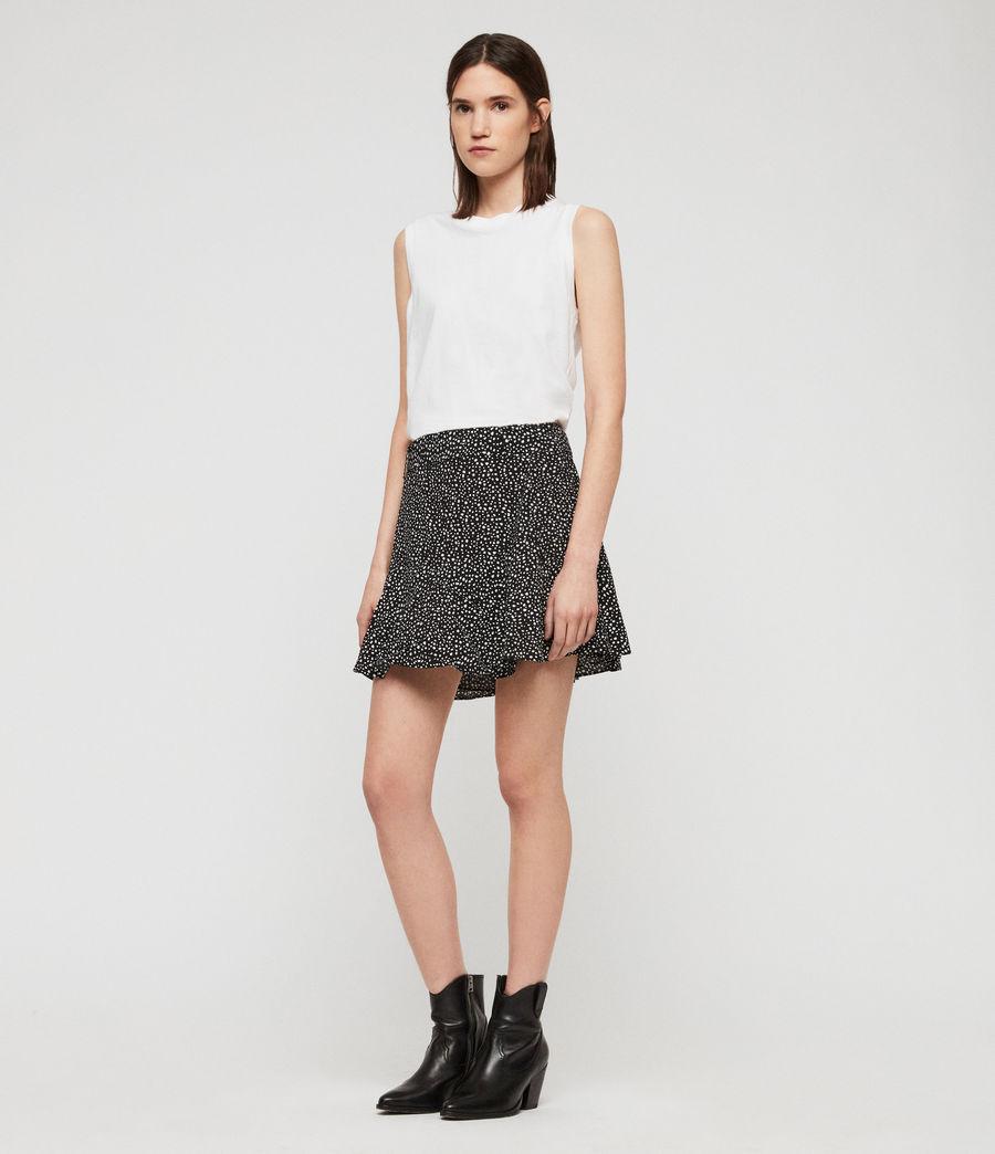 Womens Frida Splash Skirt (black_white) - Image 1