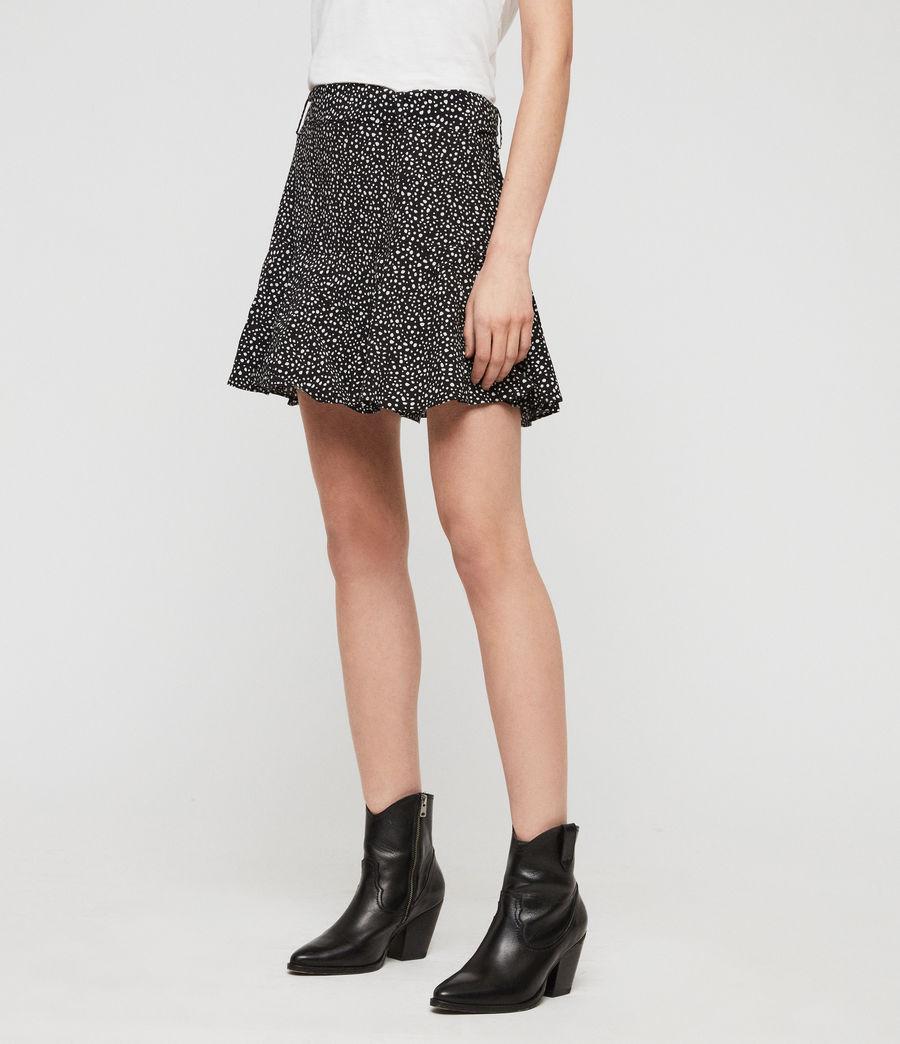 Womens Frida Splash Skirt (black_white) - Image 2