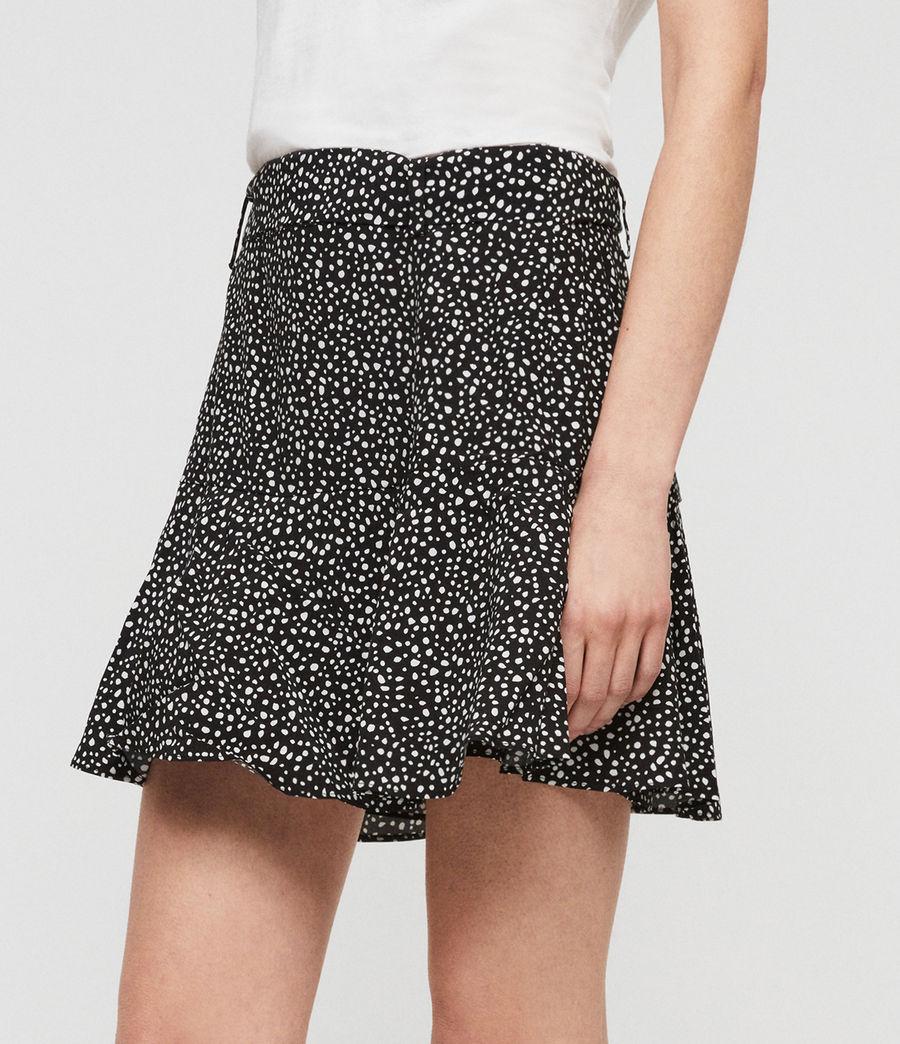 Womens Frida Splash Skirt (black_white) - Image 3