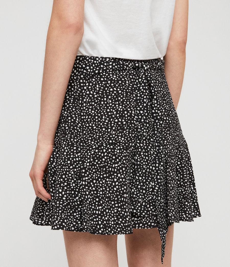 Womens Frida Splash Skirt (black_white) - Image 4