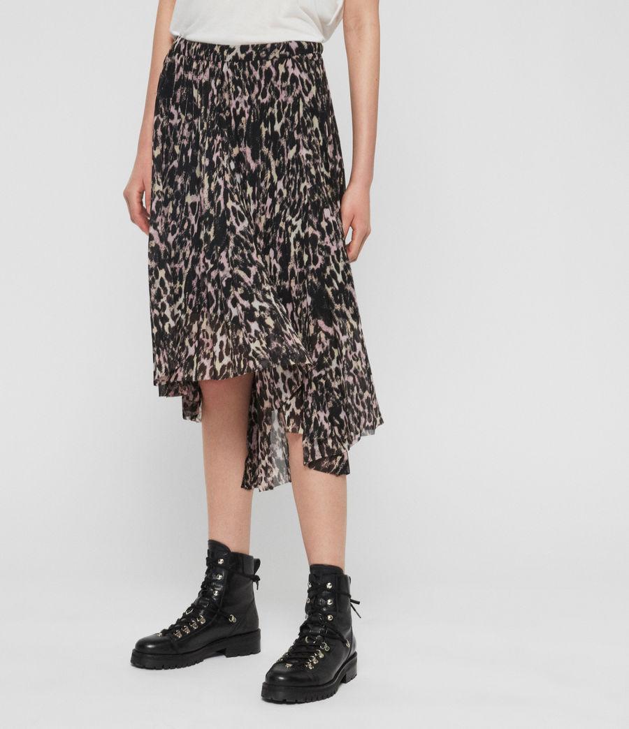 Women's Lea Leopard Long Skirt (yellow) - Image 2