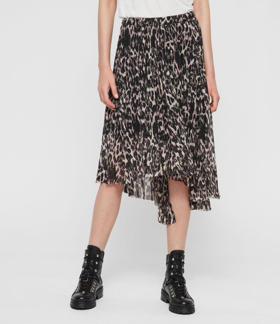 Women's Lea Leopard Long Skirt (yellow) - Image 3