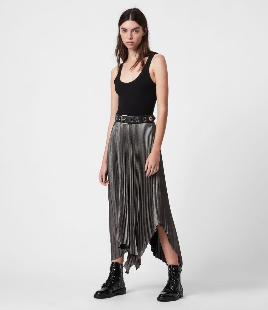 Womens Jas Shimmer Skirt (silver) - Image 1