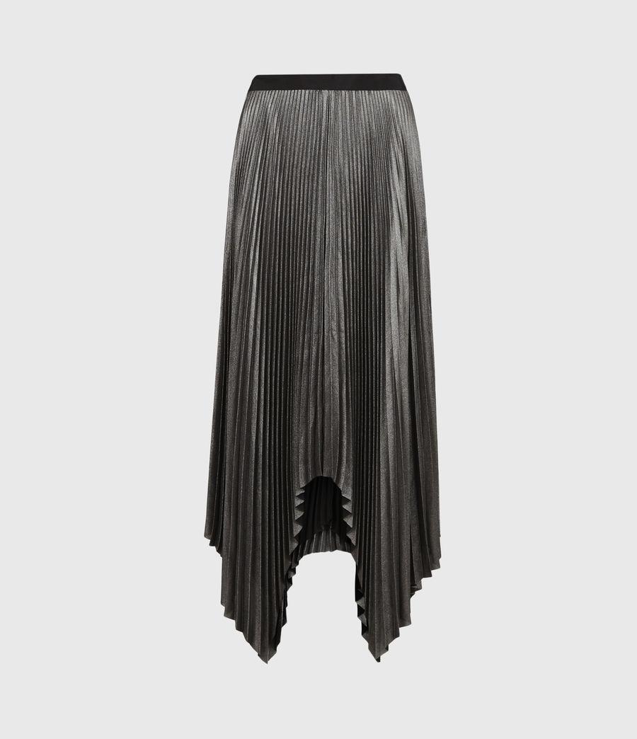 Women's Jas Shimmer Skirt (silver) - Image 2