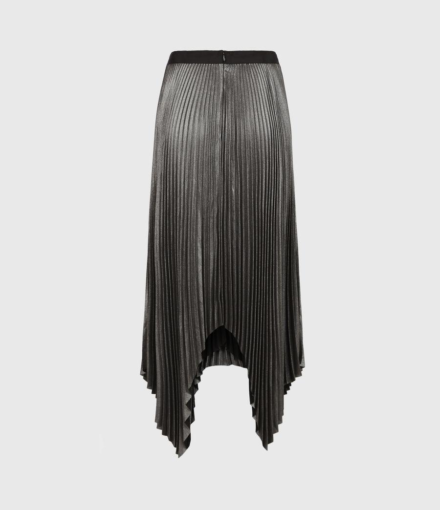 Womens Jas Shimmer Skirt (silver) - Image 3