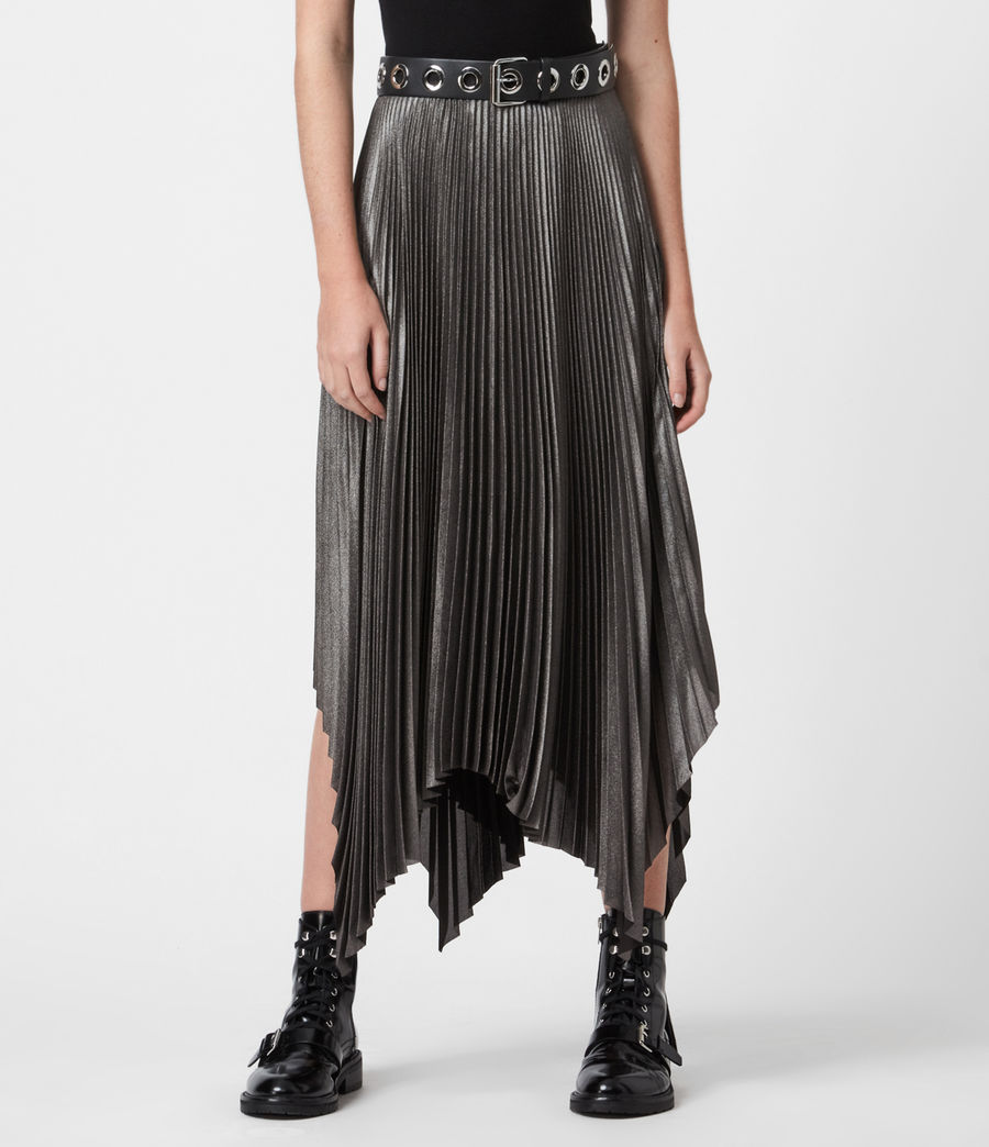 Women's Jas Shimmer Skirt (silver) - Image 4