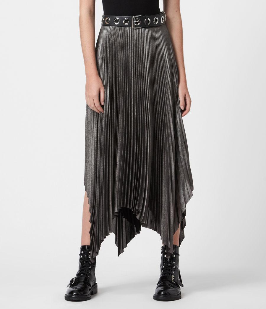 Womens Jas Shimmer Skirt (silver) - Image 4
