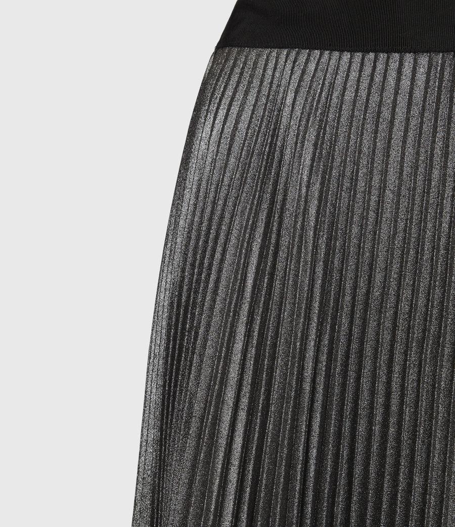 Womens Jas Shimmer Skirt (silver) - Image 5