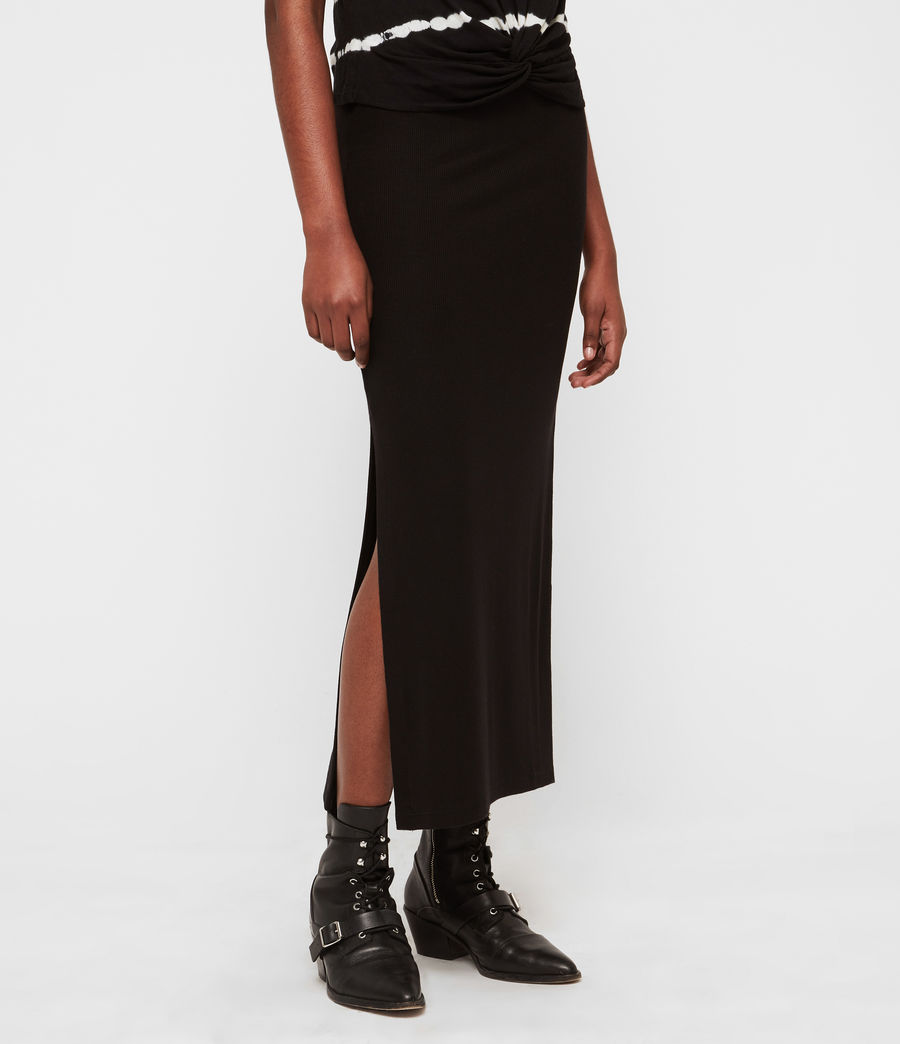 Womens Rina Maxi Skirt (black) - Image 2